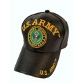 U.S ARMY BLACK LEATHER HAT