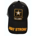 ARMY STRONG HAT WITH EMBROIDERED BILL