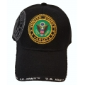 BLACK ARMY HAT WITH EMBROIDERED EMBLEM
