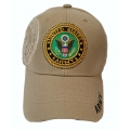KHAKI ARMY HAT WITH EMBROIDERED EMBLEM
