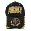 ARMY HAT WITH EMBLEM AND STAR EMBROIDERED BILL