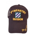 3RD INFANTRY DIVISION HAT WITH SHADOW EMBROIDERY