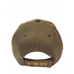 9TH INFANTRY DIVISION - OD GREEN HAT WITH SIDE SHADOW EMBROIDERY
