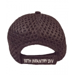 10TH INFANTRY DIVISION MESH TOP HAT WITH LEATHER TYPE BILL