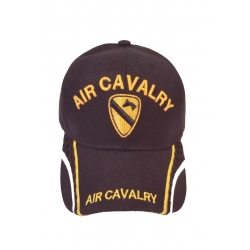 1ST CAVALRY HAT WITH EMBROIDERY AND MESH STRIP ON SIDES OF BILL