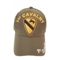 1ST CAVALRY HAT WITH SIDE SHADOW EMBROIDERY IN OD GREEN