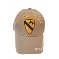 1ST CAVALRY KHAKI HAT WITH SIDE SHADOW EMBROIDERY