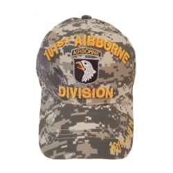 101ST AIRBORNE DIGITAL CAMO HAT WITH SIDE SHADOW EMBROIDERY