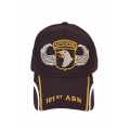 101ST AIRBORNE HAT WITH EMBROIDERY AND MESH STRIP ON EACH SIDE OF THE BILL