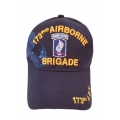 173RD AIRBORNE BRIGADE NAVY BLUE HAT WITH SIDE SHADOW EMBROIDERY
