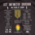 1ST INFANTRY DIVISION ( BIG RED 1 ) HISTORY T-SHIRT