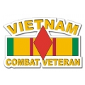 5th Infantry Division Vietnam Combat Veteran with Ribbon Decal
