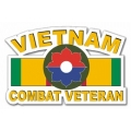 9th Infantry Division Vietnam Combat Veteran with Ribbon Decal