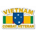 23rd Infantry ( Americal ) Division Vietnam Combat Veteran with Ribbon Decal