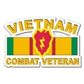 25th Infantry Division Vietnam Combat Veteran with Ribbon Decal