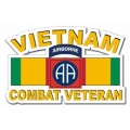 82nd Airborne Division Vietnam Combat Veteran with Ribbon Decal