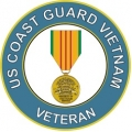 US Coast Guard with Medal Vietnam Decal Sticker