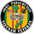 US Army Parachutist Vietnam Veteran Decal Sticker