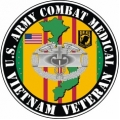 US Army Combat Medical Vietnam Veteran Decal Sticker