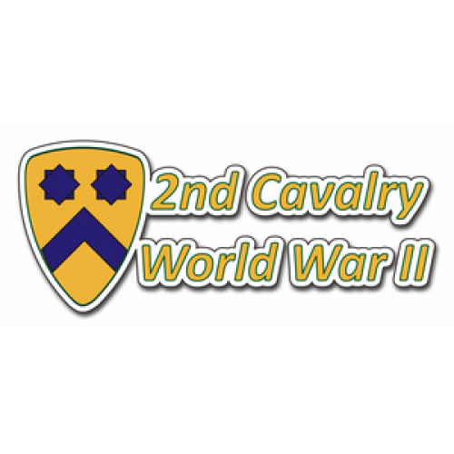 2nd cavalry division world war ii wwii bumper sticker 3 8