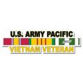 US Army Pacific Vietnam Veteran Window Strip Decal
