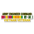 US Army Engineer Command Vietnam Veteran Window Strip Decal