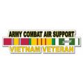 US Army Combat Air Support Vietnam Veteran Window Strip Decal