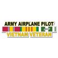 US Army Airplane Pilot Vietnam Veteran Window Strip Decal