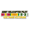 US Army Helicopter Pilot Vietnam Veteran Window Strip Decal
