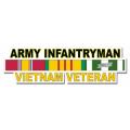 US Army Infantryman Vietnam Veteran Window Strip Decal