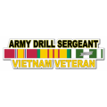 US Army Drill Sergeant Vietnam Veteran Window Strip Decal