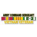 US Army Command Sergeant Vietnam Veteran Window Strip Decal