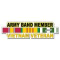 US Army Band Member Vietnam Veteran Window Strip Decal