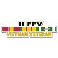 US Army II FFV Vietnam Veteran Window Strip Decal