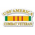 USS America CV-66 Combat Veteran Decal