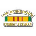 USS Bennington Vietnam Combat Veteran with Ribbon Decal