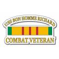 USS Bon Homme Richard CV-31 Vietnam Combat Veteran with Ribbon Decal