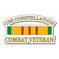 USS Constellation CV64 Vietnam Combat Veteran with Ribbon Decal