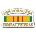 USS Coral Sea CV-43 Vietnam Combat Veteran with Ribbon Decal