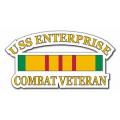 USS Enterprise CVN-65 Vietnam Combat Veteran with Ribbon Decal