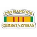 USS Hancock CV-19 Vietnam Combat Veteran with Ribbon Decal