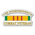 USS Independence CV-62 Vietnam Combat Veteran with Ribbon Decal