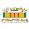 USS Intrepid CV-11 Vietnam Combat Veteran with Ribbon Decal