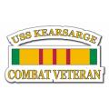USS Kearsarge CV-33 Vietnam Combat Veteran with Ribbon Decal