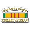 USS Kitty Hawk CV-63 Vietnam Combat Veteran with Ribbon Decal