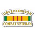 USS Lexington CV-16 Vietnam Combat Veteran with Ribbon Decal