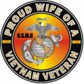 US Marine Corps Proud Wife of a Vietnam Veteran