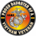 US Marine Corps Proud Daughter of a Vietnam Veteran