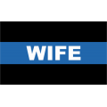 "Police Thin Blue Line Wife Decal (3.8"")"
