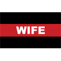 "Firefighter Thin Red Line Wife Decal (3.8"")"